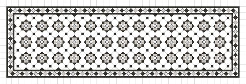 BOWRAL PATTERN WITH NORWOOD BORDER AND ENCAUSTICS