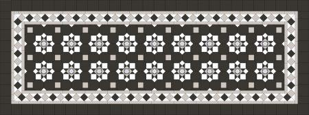 Albury Pattern + Norwood 120 Border + 100x100 Carbon Black Infill