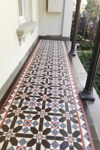 FITZROY PATTERN + RITZ BORDER + INFILL - TESSELLATED TILES
