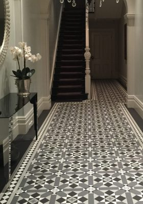 FITZROY PATTERN + NORWOOD BORDER + INFILL - TESSELLATED TILES