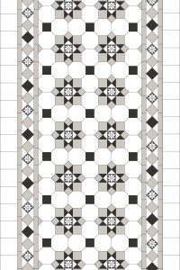 ALBURY PATTERN + NORWOOD BORDER + ENCAUSTICS + INFILL