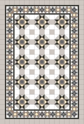 HAMILTON PATTERN + GRAND NORWOOD BORDER + INFILL