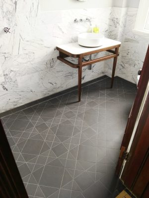 SUTHERLAND PATTERN - LARGER FORMAT - CARBON BLACK - RENDITIONS TESSELLATED TILES