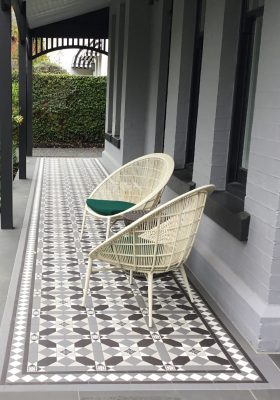 FITZROY PATTERN + NORWOOD BORDER + INFILL - RENDITIONS TESSELLATED TILES