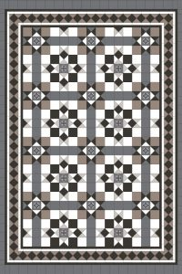 MELBOURNE PATTERN + NORWOOD 150 BORDER + EXTRA STRIPS + INFILL - TESSELLATED TILES