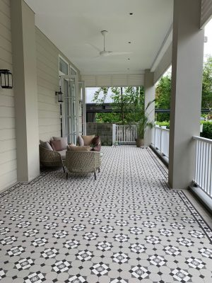BOWRAL PATTERN + NORWOOD BORDER - SINGAPORE - RENDITIONS TESSELLATED TILES