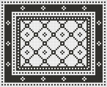 25x25mm Mosaic - single crossroads with star